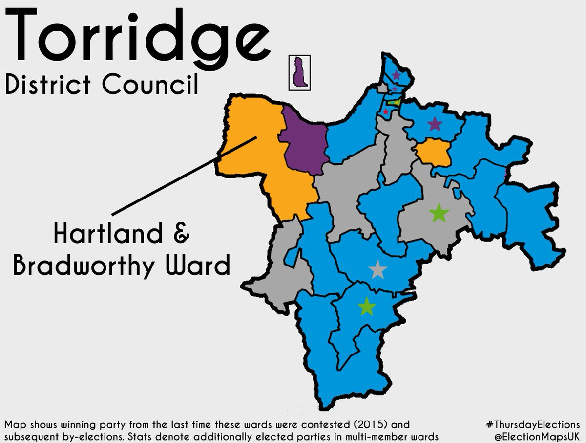 next up is hartland and bradworthy in torridge where the lib dems defend from con who didnt stand previously and grn in 2017 ldm beat grn by 57 to