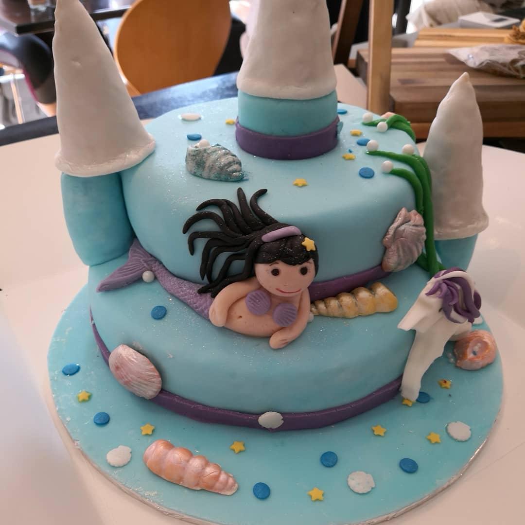 Unicorn Mermaid Birthday Cake From Us Coffii22 Unicorncake Mermaidcake Birthdaycake Birthdayparty Homemadefood