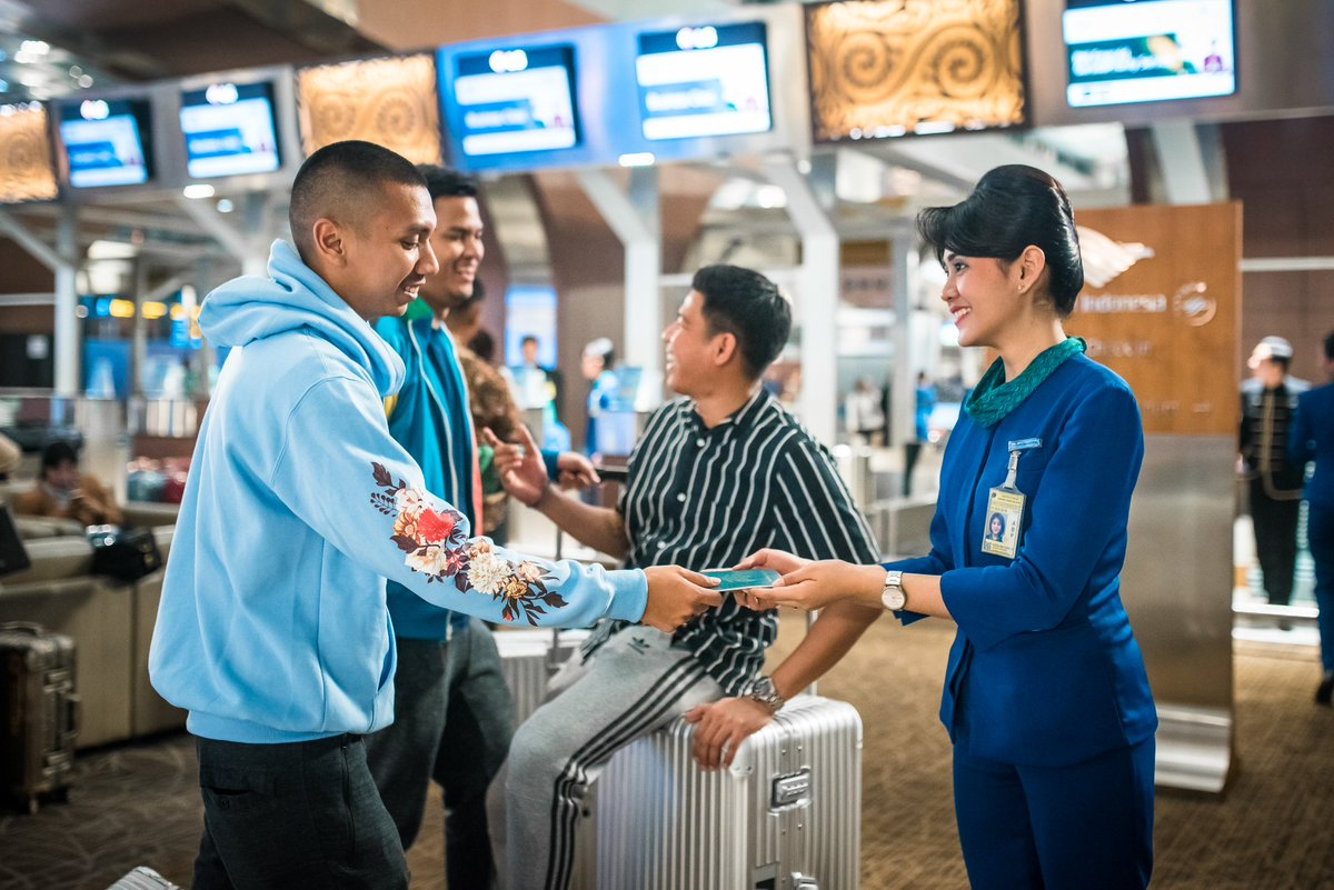 Garuda Indonesia On Twitter Checking In Today At Our Premium Check In Counter Soekarno Hatta International Airport To Catch A Flight To Japan Kicking Off The Much Waited Ranjapantour2018 See You On Board Ranforyourlife Ranforga