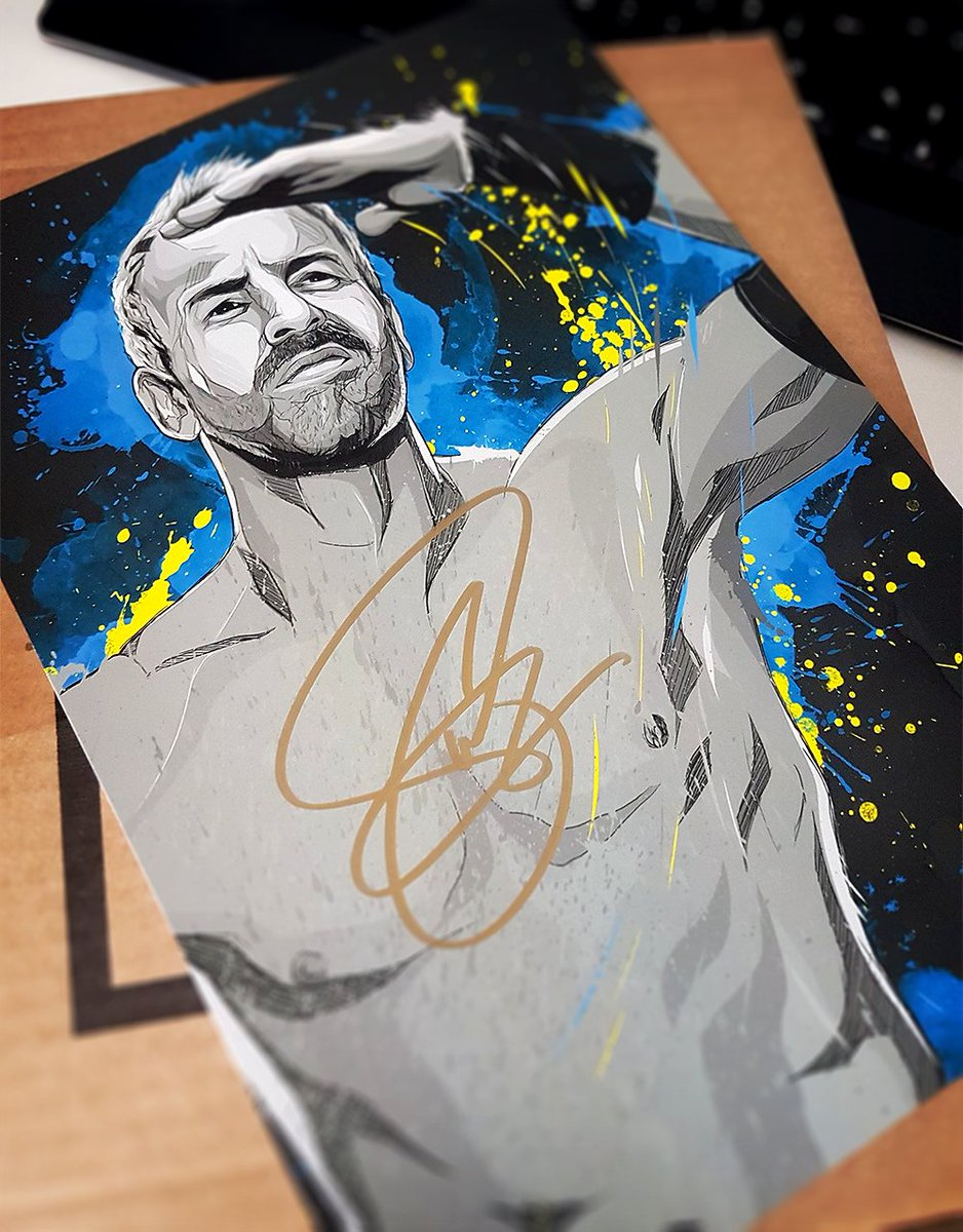 One of the coolest things about working with @WrestleCrateUK is getting to see my artwork signed by some of my all time favourite wrestlers. So pleased to have been able to create this for Wrestle Crate and @Christian4Peeps 🙌
