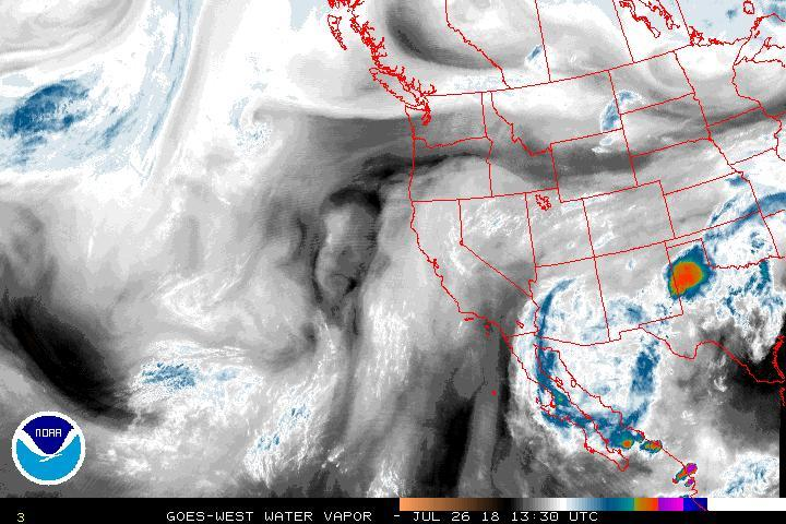 Justin G Weather On Twitter Uswx Cawx Nvwx Azwx Western Us - Us-water-vapor-map