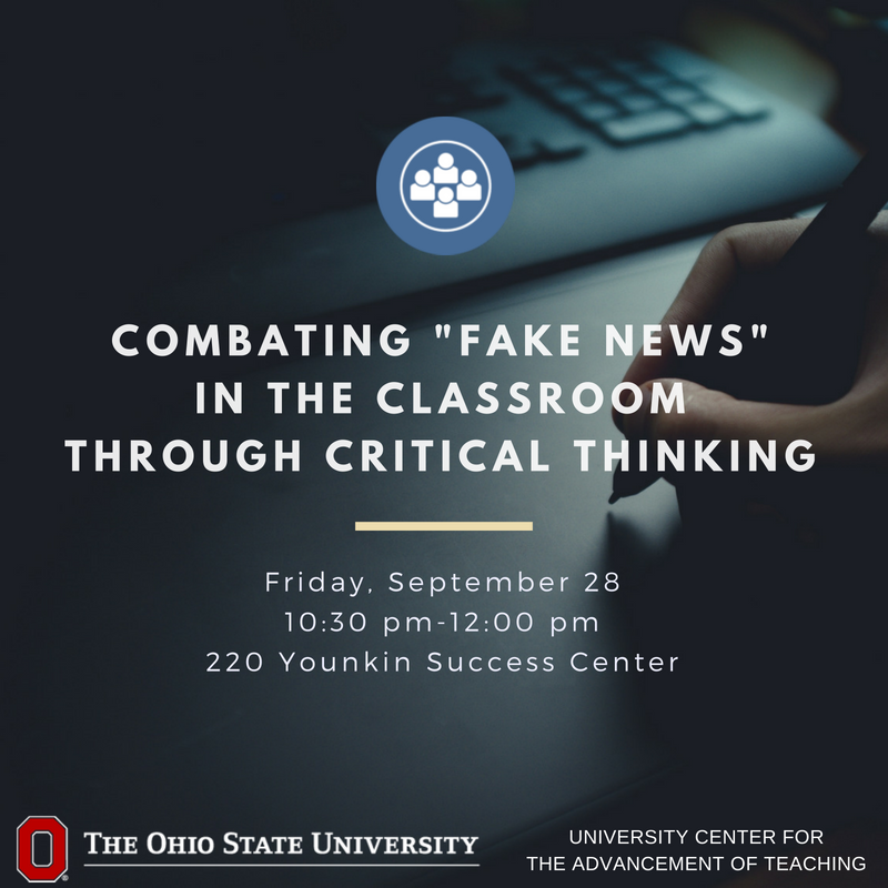"Students are surrounded by the concept of ""fake news."" Knowing what sources and opinions to use is challenging. Learn to become familiar with resources that support students' development while reducing barriers to learning. Register: https://t.co/LP8FpNxxHi"