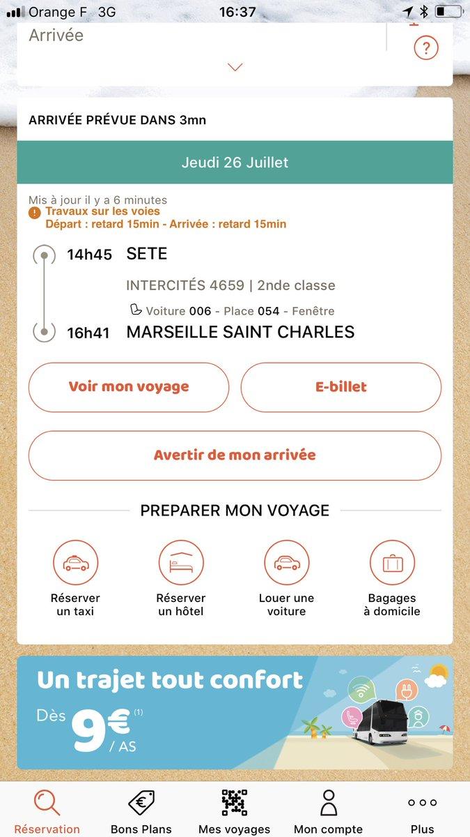 """SNCF on Twitter: """"Votre train arrivant dans quelques minutes à"""