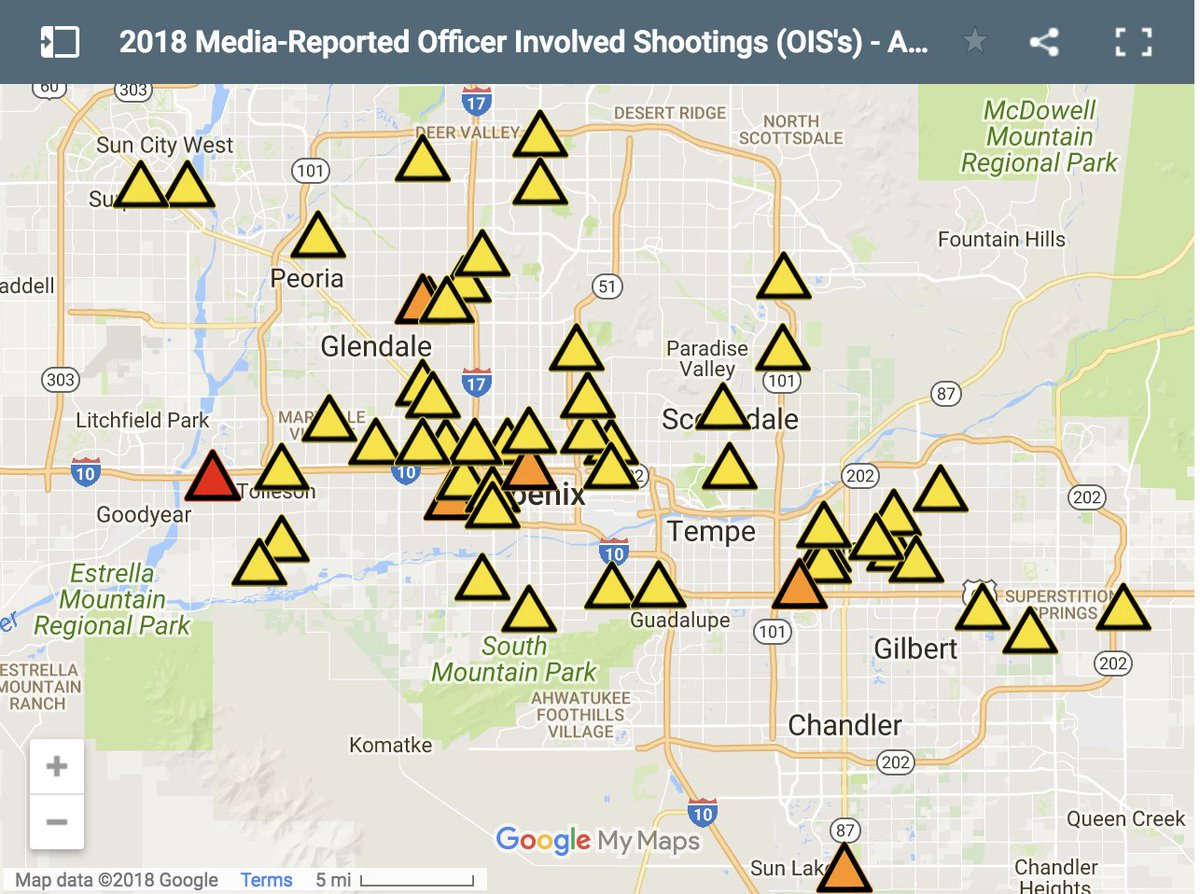 Map Of Arizona Only.Abc15 Arizona On Twitter Map 2018 Police Involved Shootings In