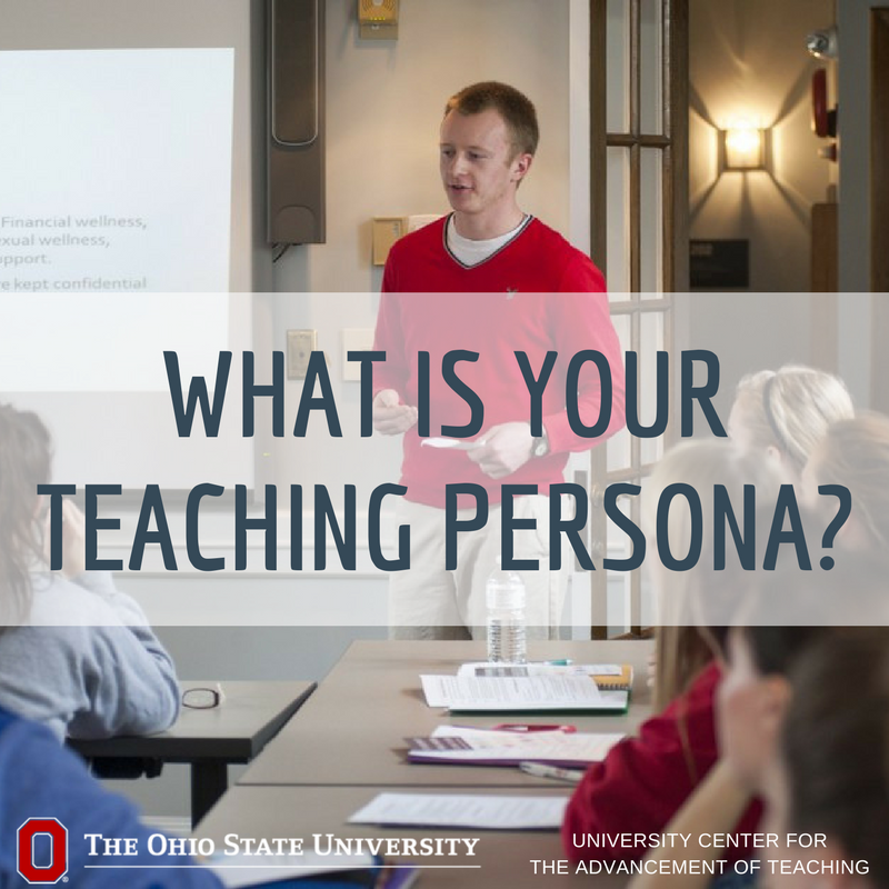 Creating a teaching persona is an individual process that changes throughout your career. https://t.co/tsphP6a8KT @facultyfocus