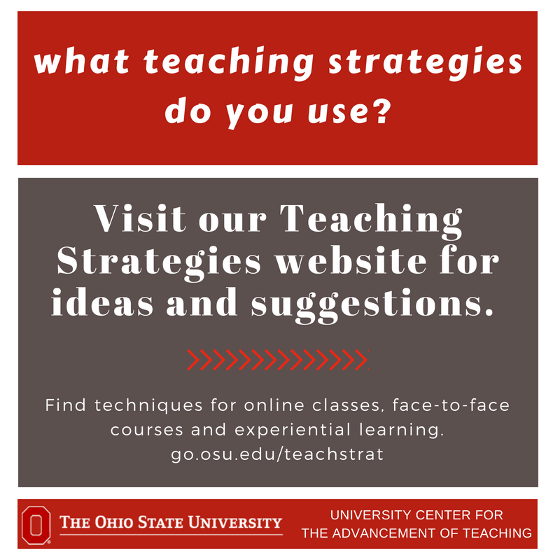 Visit our recently-updated Teaching Strategies website for techniques and suggestions. https://t.co/3j0cIg8RMK