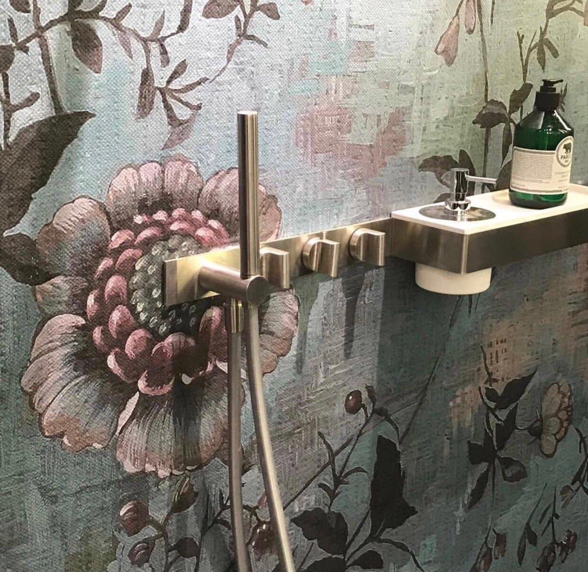 Wall&amp;deco for the shower. Wet System: Dame Voilee. Designer: Eva Germani for @Wall&amp;deco. #wallart #milanogram2018 #letusbeyourresource #wallanddeco #papierpeint #wallpaper #tapete #papelpintado #wallcovering #design #walldecoration #instawall #decor #decorate #interiordesign<br>http://pic.twitter.com/ZXjwSP87zE