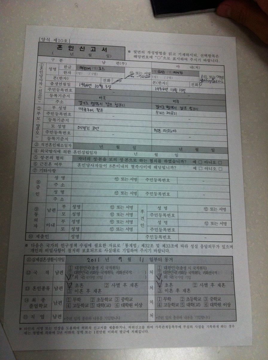 Korean certificate south marriage South Korea: