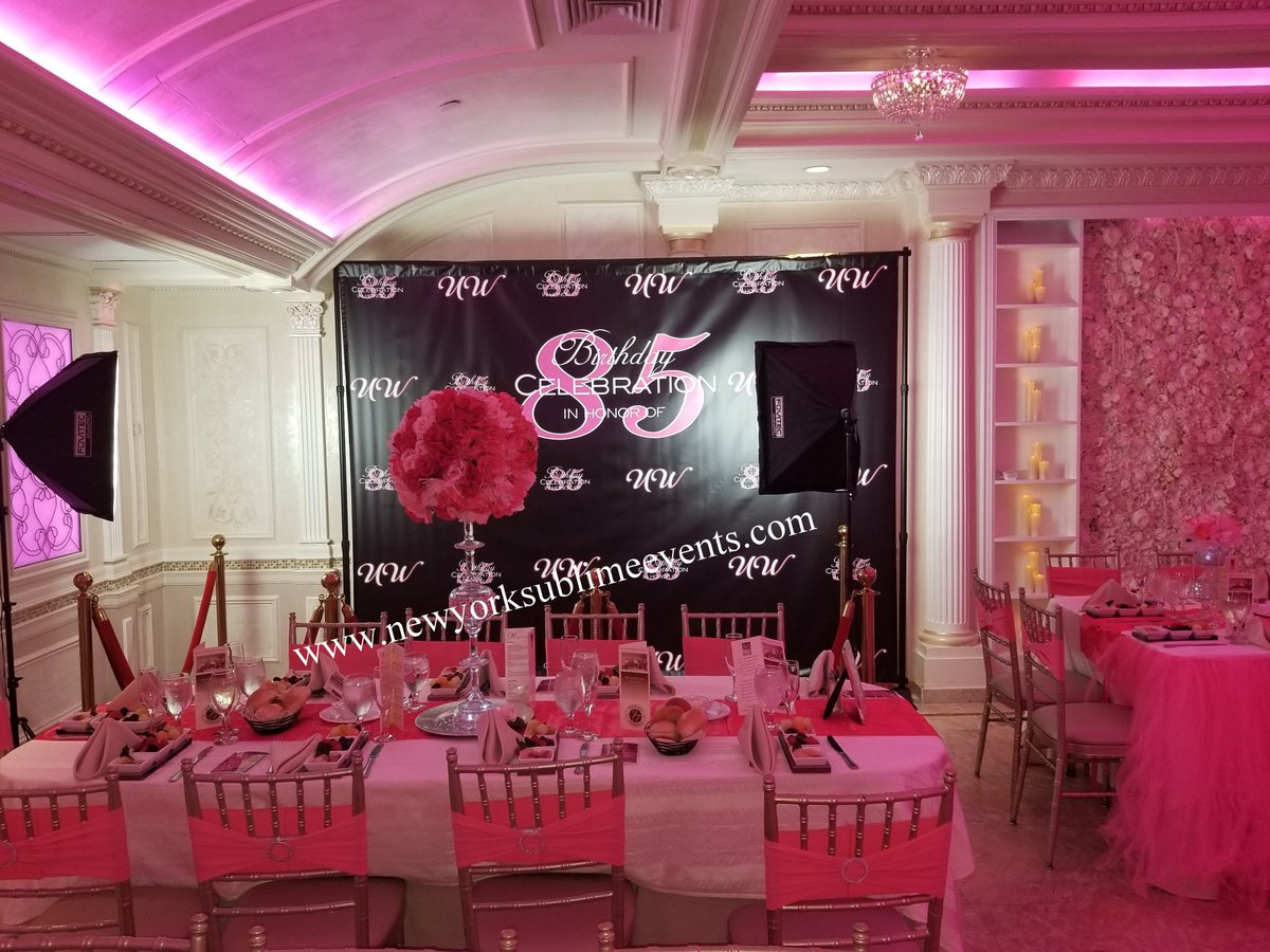 85th Birthday Party Custom Backdrop Step And Repeat Banner Set Up Make Your Event Stand Out With Our High Quality Banners
