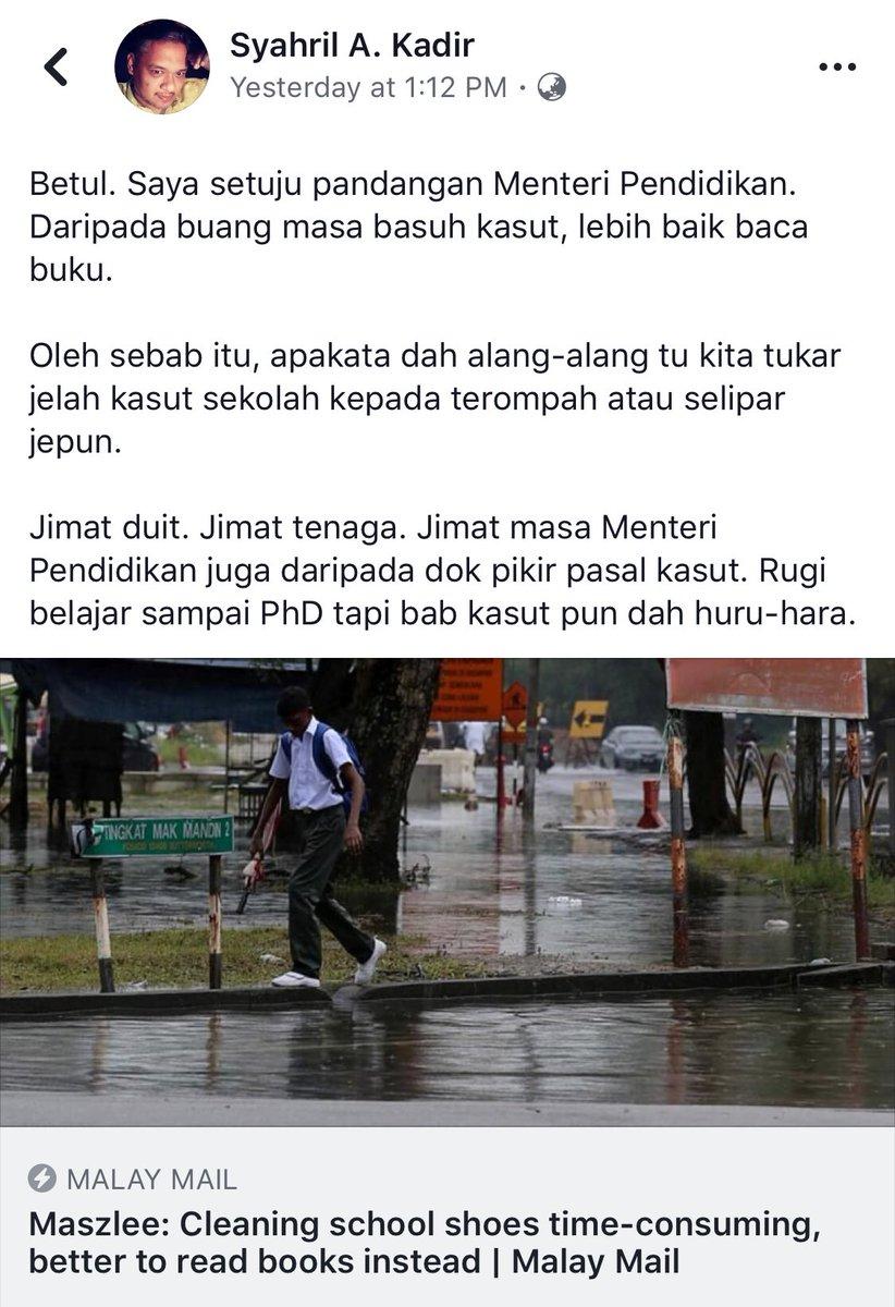 Betul gak brader ni cakap.. baik brader ni jer jadi menteri.. apa ke bongok la menteri ni... #KauMarahKenapa #KauYangPilih #InilahMalaysiaBaharu https://t.co/4hPSVEvoKe