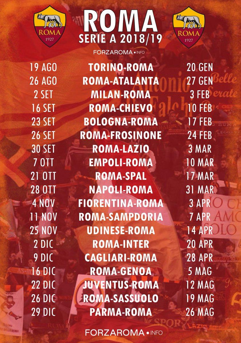 As Roma Calendario.Forzaroma Info On Twitter Calendario Roma Serie A 2018