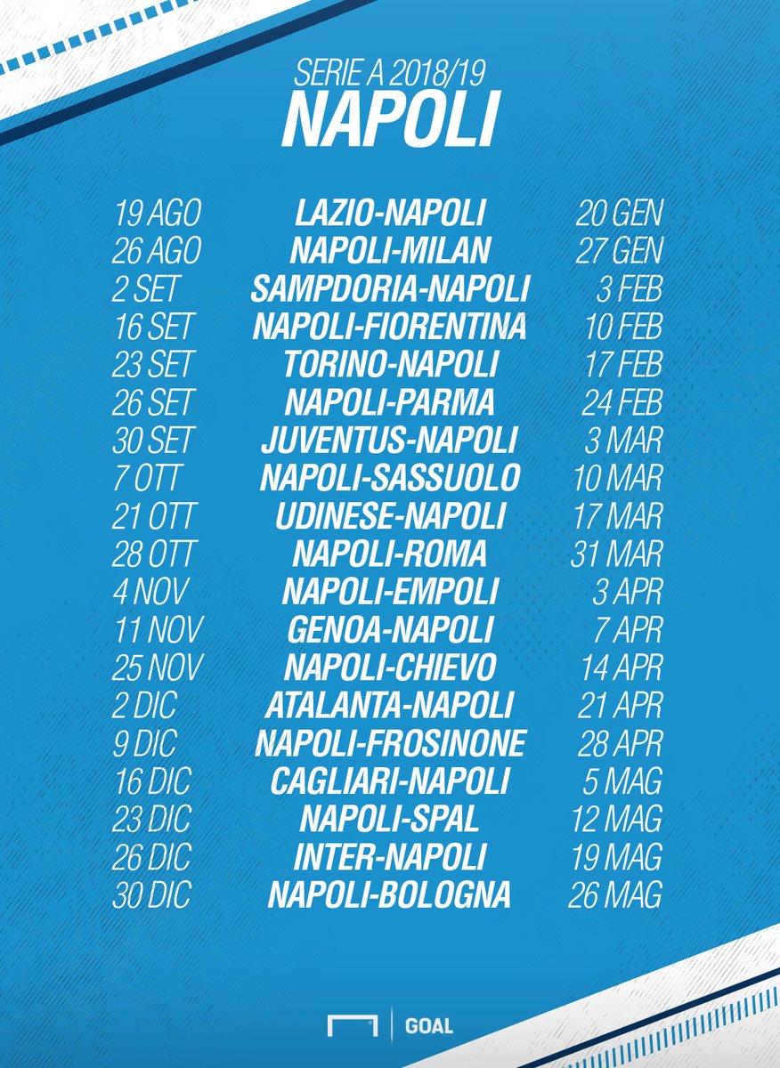 Inter Napoli Calendario.Napoli Calendario Serie A