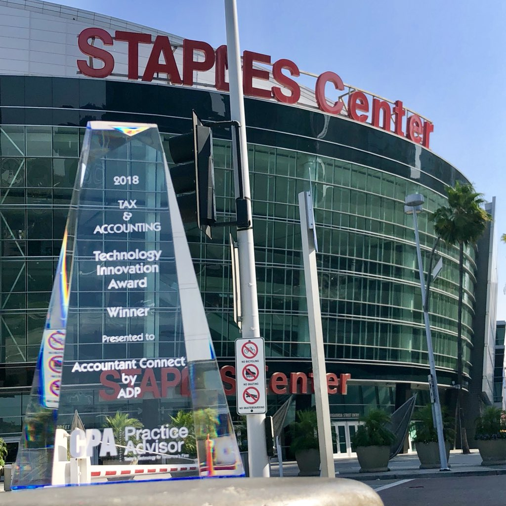 #ADP #AccountantConnect  Innovation Award touring LA before heading home to NJ. First stop Staples Center to say hi to LeBron.