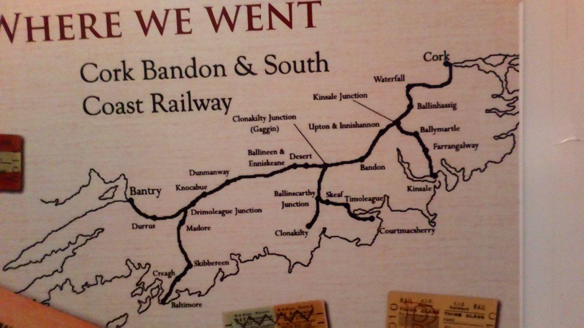 Kevin Burke On Twitter The Old West Cork Kinsale Railway Map