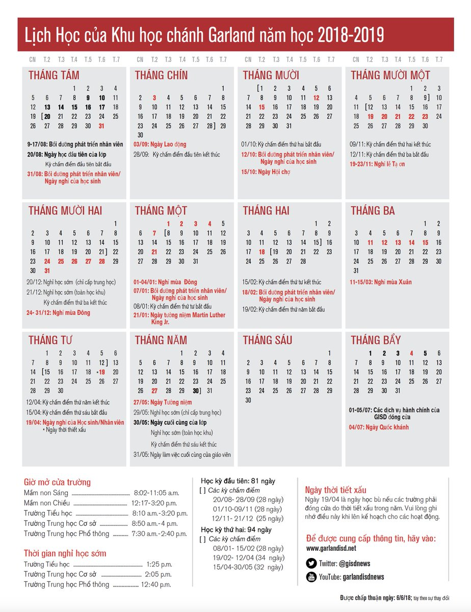 Cua Academic Calendar.Garland Isd On Twitter With The First Day Of School Less Than One