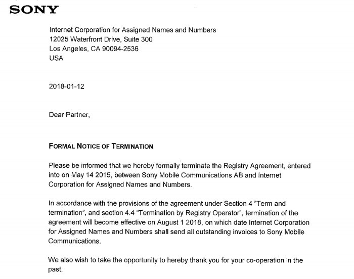 Ben Cox On Twitter Sony Deleted A Tld A Whole Tld This Is A