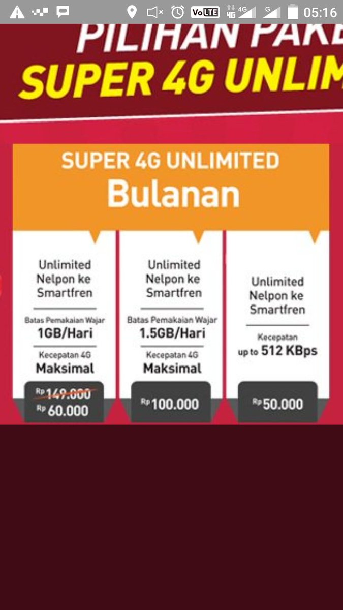 Smartfrencare On Twitter It S True Promo Internet Package Super 4g Unlimited 60 Have Benefit Fup 1gb Day And Super 4g Unlimited 100 Have Benefit Fup 1 5gb Day Active Period Same