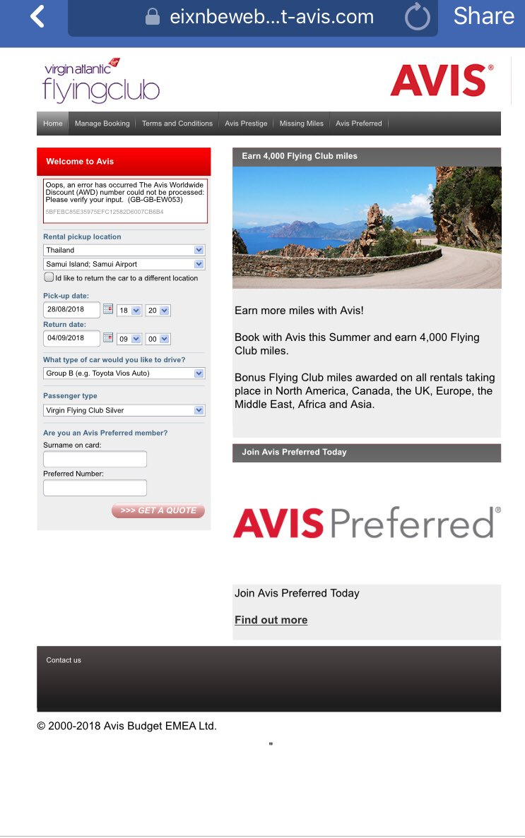 Avis Car Rental On Twitter Hello Tris The Discount Number You Are
