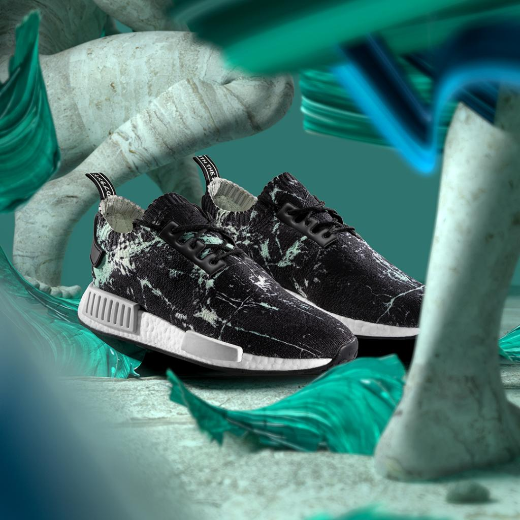 dce545afe9c68 A new adidas NMD R1 drops tomorrow with a green marble Primeknit pattern  for a premium touch. Are you picking up a pair