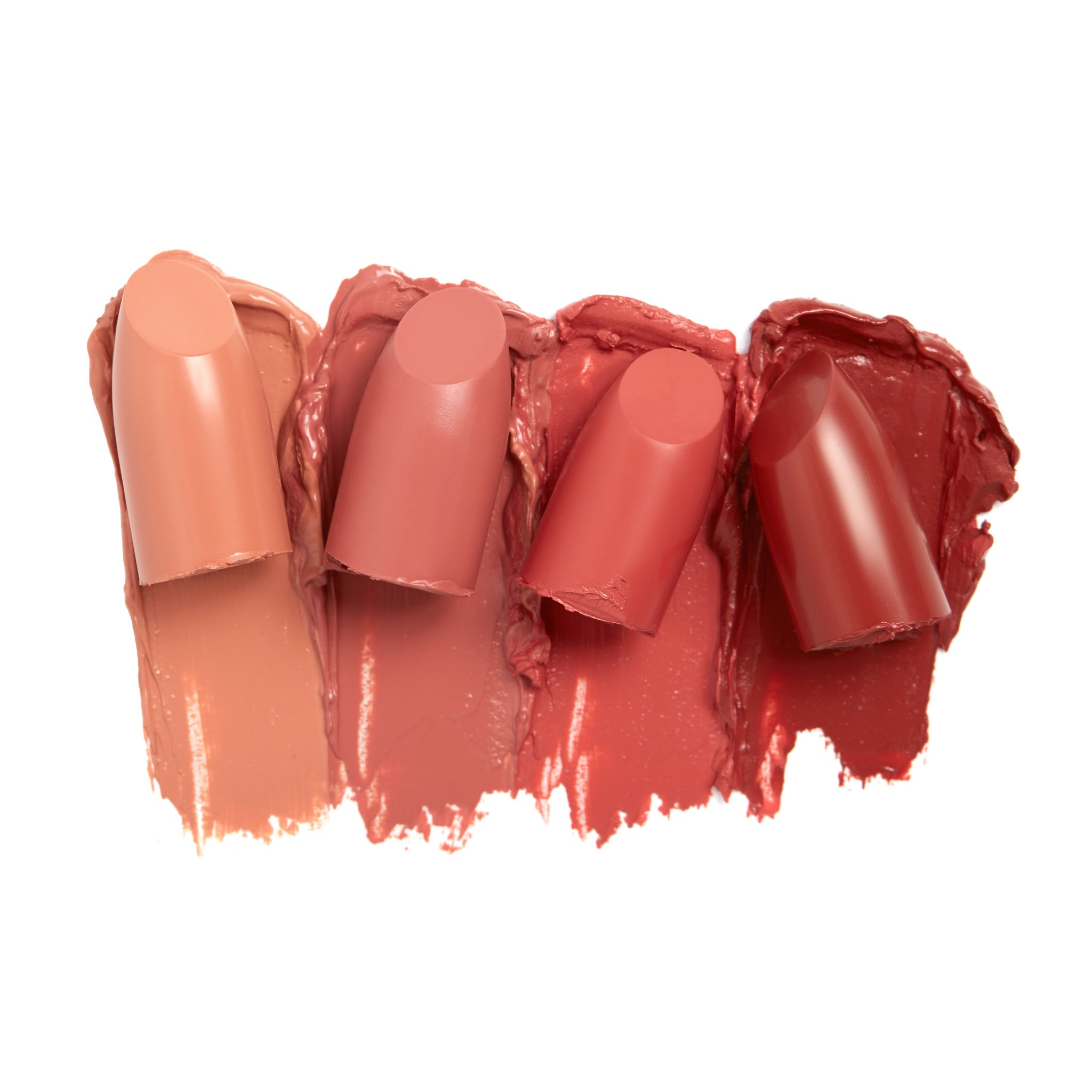 Crème Lipsticks in Peach 1-4. Available tomorrow at https://t.co/32qaKbs5YG at 12PM PST https://t.co/M7e1Sec0Mo