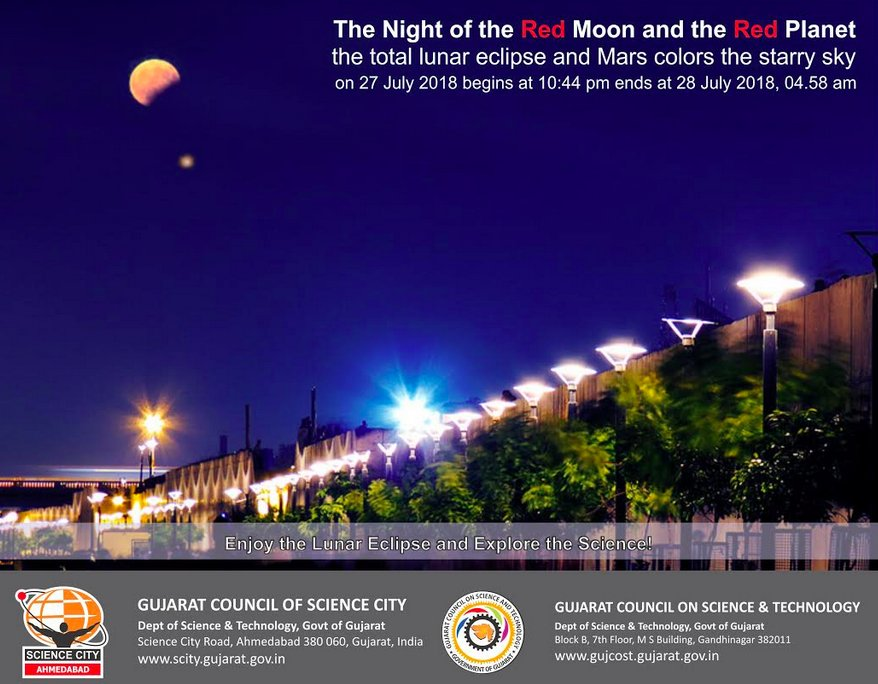 Century's longest Lunar Eclipse tonight during 22.44 to 4.58 hours