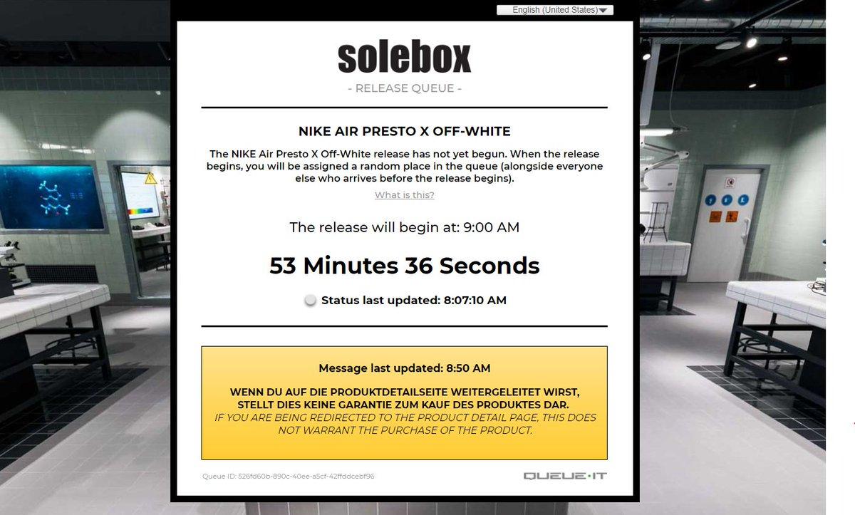 Solebox queue