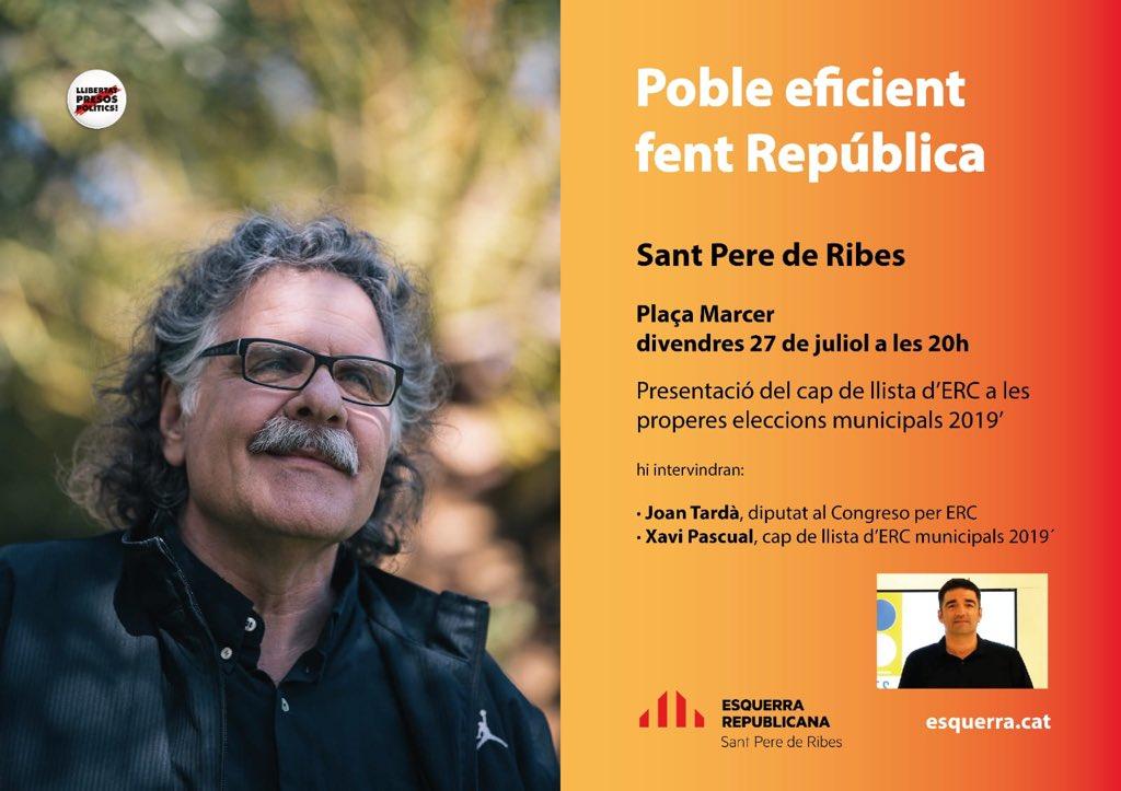 Us esperem avui a Sant Pere de Ribes! @Esquerra_ERC