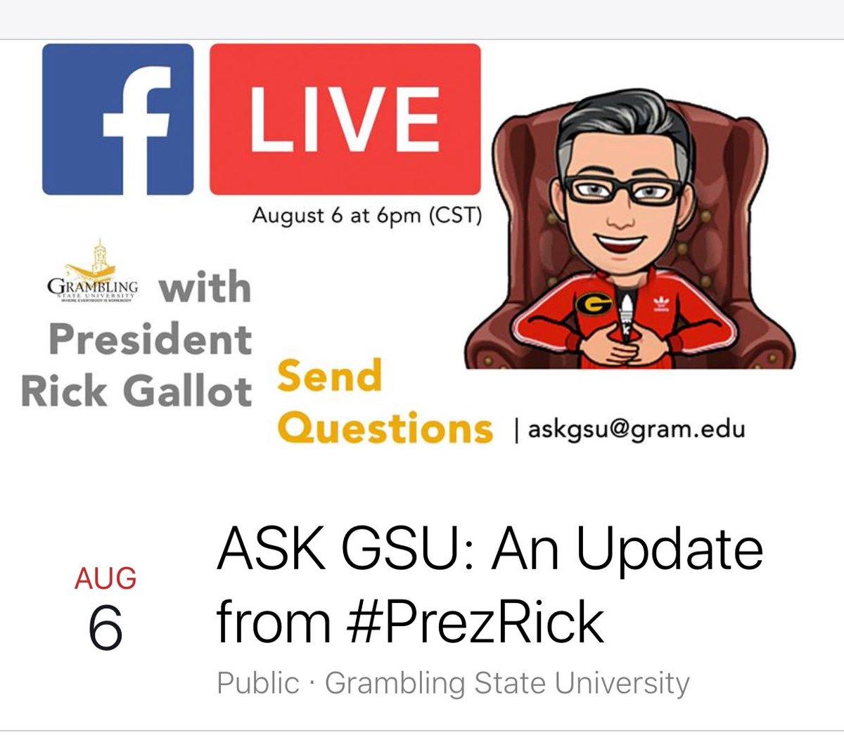 Facebook Live! Ask Pres @ Facebook Live (Online) | Grambling | Louisiana | United States