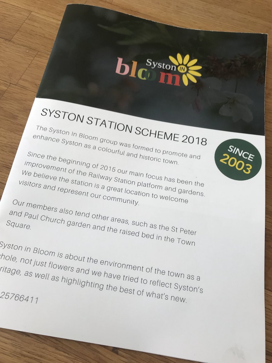 @EMTrains have so many great #stationadopters across our network #volunteering for different reasons &amp; helping to #greengreybritain. @SystonInBloom have achieved so much not only at #syston station but also within the town. Watch out for future plans too. @The_RHS @ACoRPOffice<br>http://pic.twitter.com/5s84bvQARi