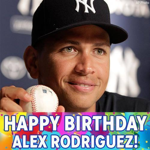 Happy birthday to former New York Yankees star Alex Rodriguez!
