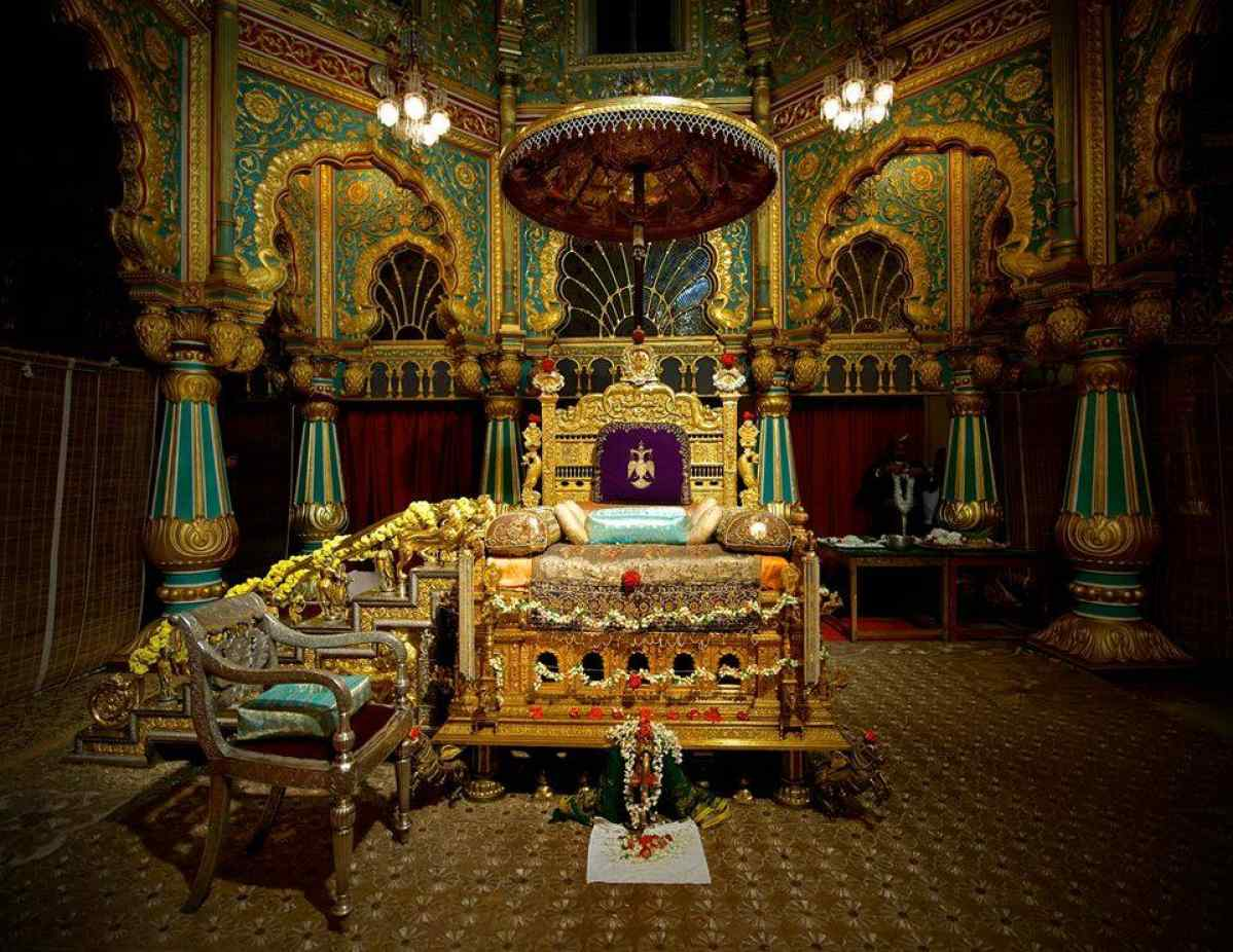 The Mysore Palace Is Golden Throne Kept For Public View Only During Dussehra Festival Jewel Karnataka India IncredibleIndia