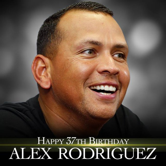 Happy birthday to former Yankee Alex Rodriguez. He turns 37 today.