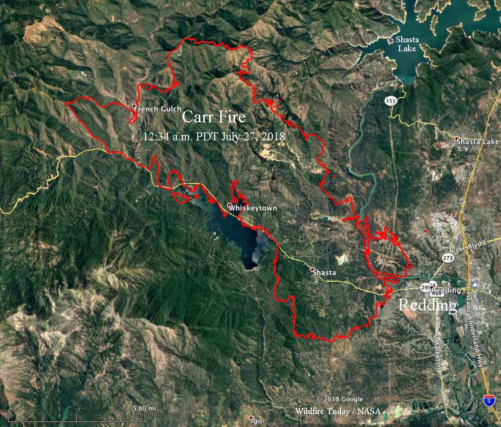 Wildfire Today On Twitter Updated Map Showing The Perimeter Of