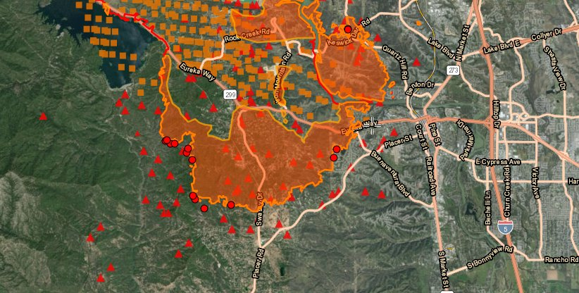 Ai6yr On Twitter Carrfire Map Of The Fire Per Fire Satellites