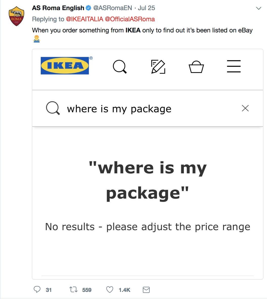 Ladbrokes On Twitter Romas Twitter Banter With Ikea