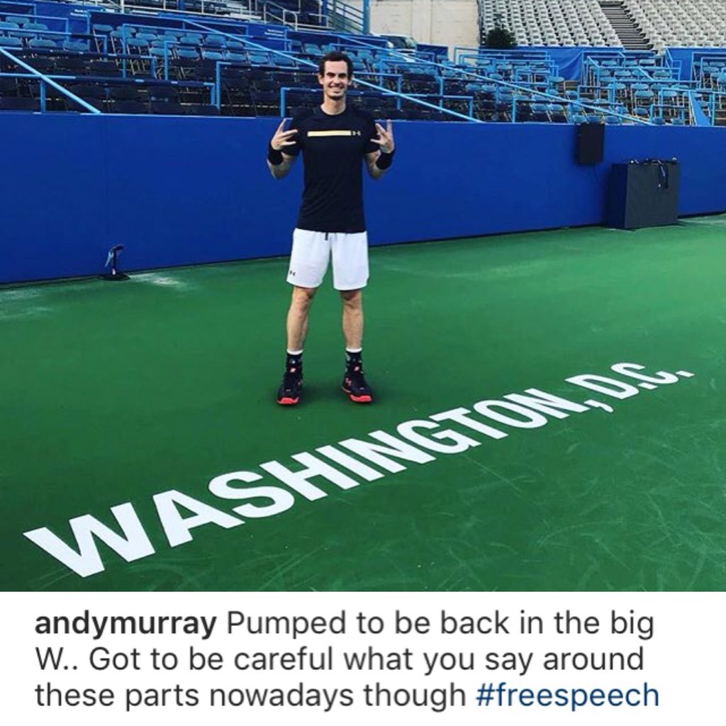 Andy Murray is back on court in Washington for his third tournament of 2018 ���� https://t.co/9xl3BqHgDZ
