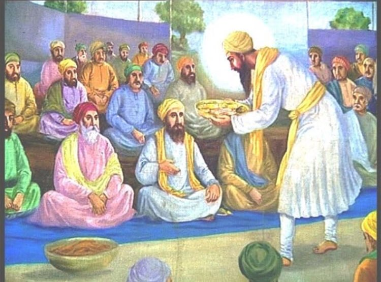 "Dharam Seva Records on Twitter: ""Guru Angad Dev ji (Part:3) The institution  of langar was maintained and developed. The Guru's wife personally worked  in the kitchen. She also served food to the"