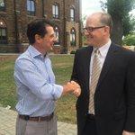 Image for the Tweet beginning: Mayors @Aldo_DiCarlo & @drewdilkens excited
