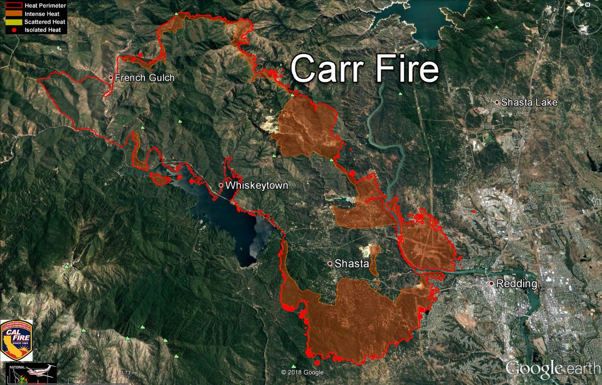 Nws Sacramento On Twitter Here Are Recent Maps Of The Carrfire
