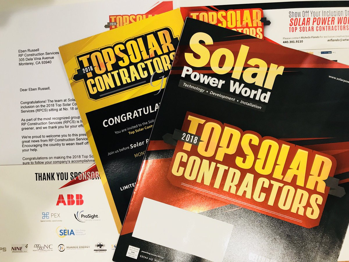 What a great thing to see when walking into the office on a Friday! #topsolarcontractor @SolarPowerWorld #rpcs #followthesunpic.twitter.com/zufIXsDPkC