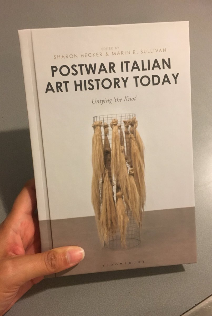 """My essay on #MarinoMarini is included in """"Postwar Italian Art History Today""""  just out from @BloomsburyAcad. Thanks to our amazing editors  @MarinRSullivan ..."""