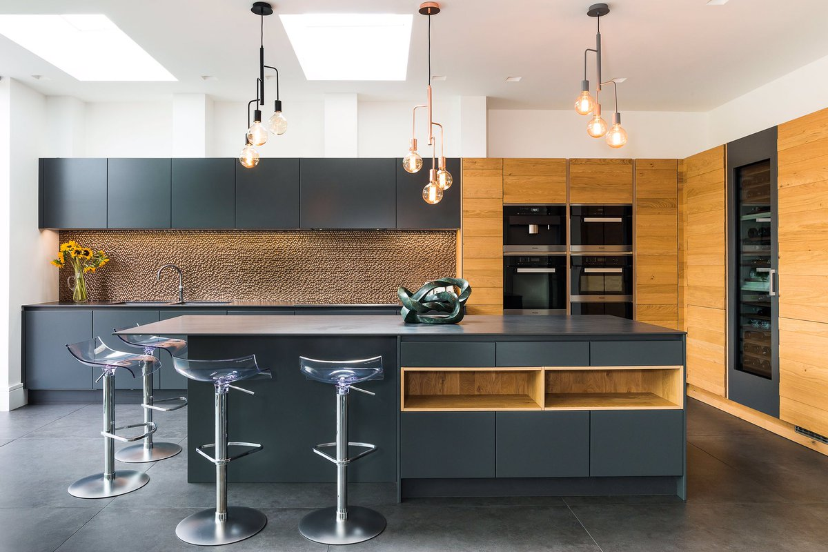Structured Genuine Wood Meets Velvety Matt Lacquer In This Super Sleek  Family Kitchen Weu0027ve Recently Completed In Wimbledon, London. ELAN KITCHENS.