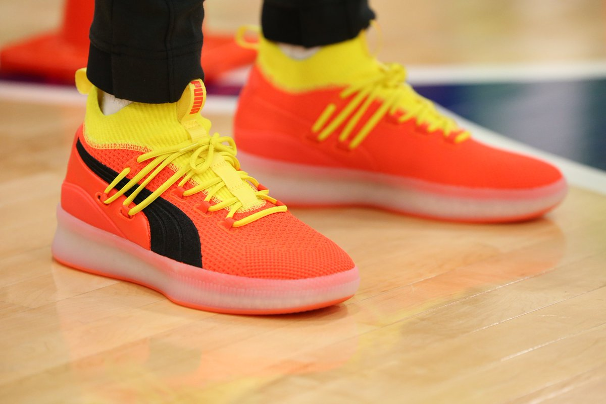 b0d6f8838a7c puma has signed a deal with the wnba will wear the clyde court disrupt on  her