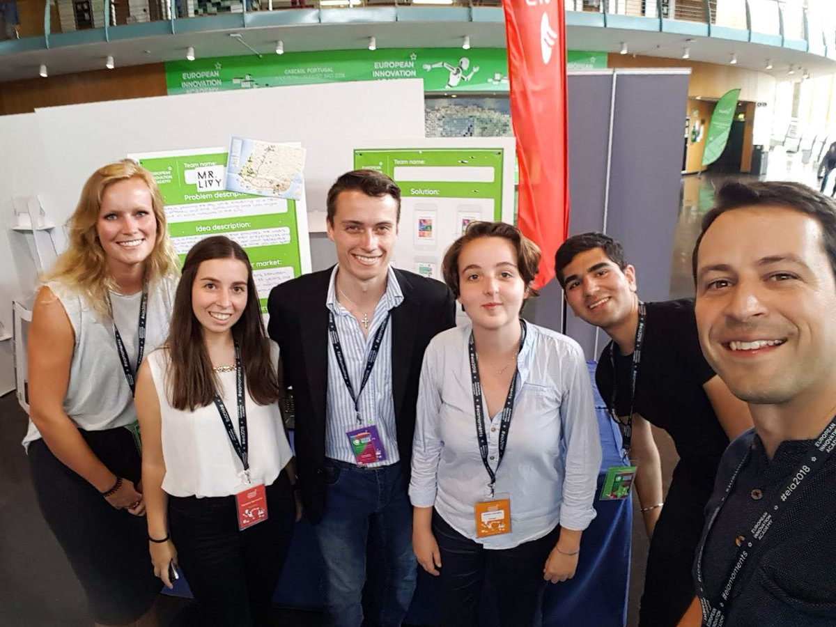 The Xplority team, who developed an app that helps you find your personalized route based on your preferences and time available​ with the Chilltime CEO at @EIAinnovate , an event filled with talented students from all around the world! #innovationacademy https://t.co/K5rm3SKUbR https://t.co/eKJycN2uEC