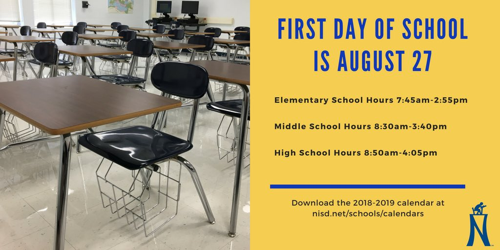 Northside Isd On Twitter School Starts One Month From Today On