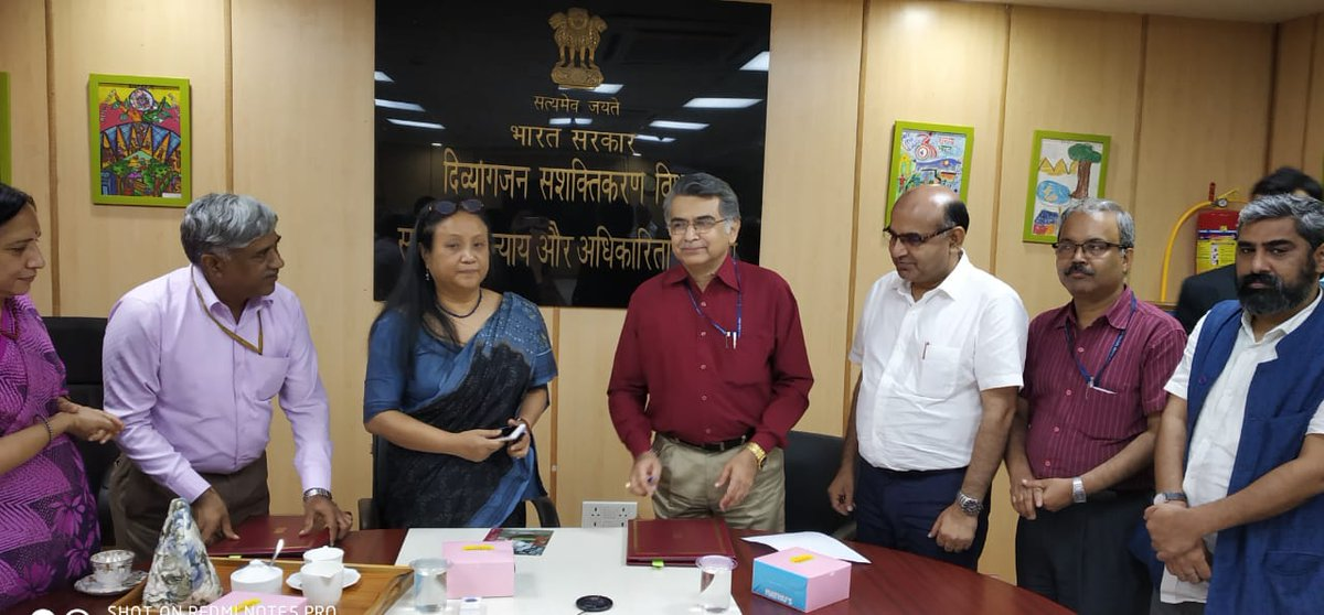 A MoU was signed between DEPwD  and School of Planning & Architecture, Delhi to conduct verification audit of major accessible railway stations. Secretary, DEPwD & Director, SPA signed the MoU on Friday.   #Accessibility @RailMinIndia @MIB_India @PIB_India