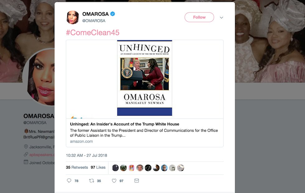 Image result for omarosa unhinged