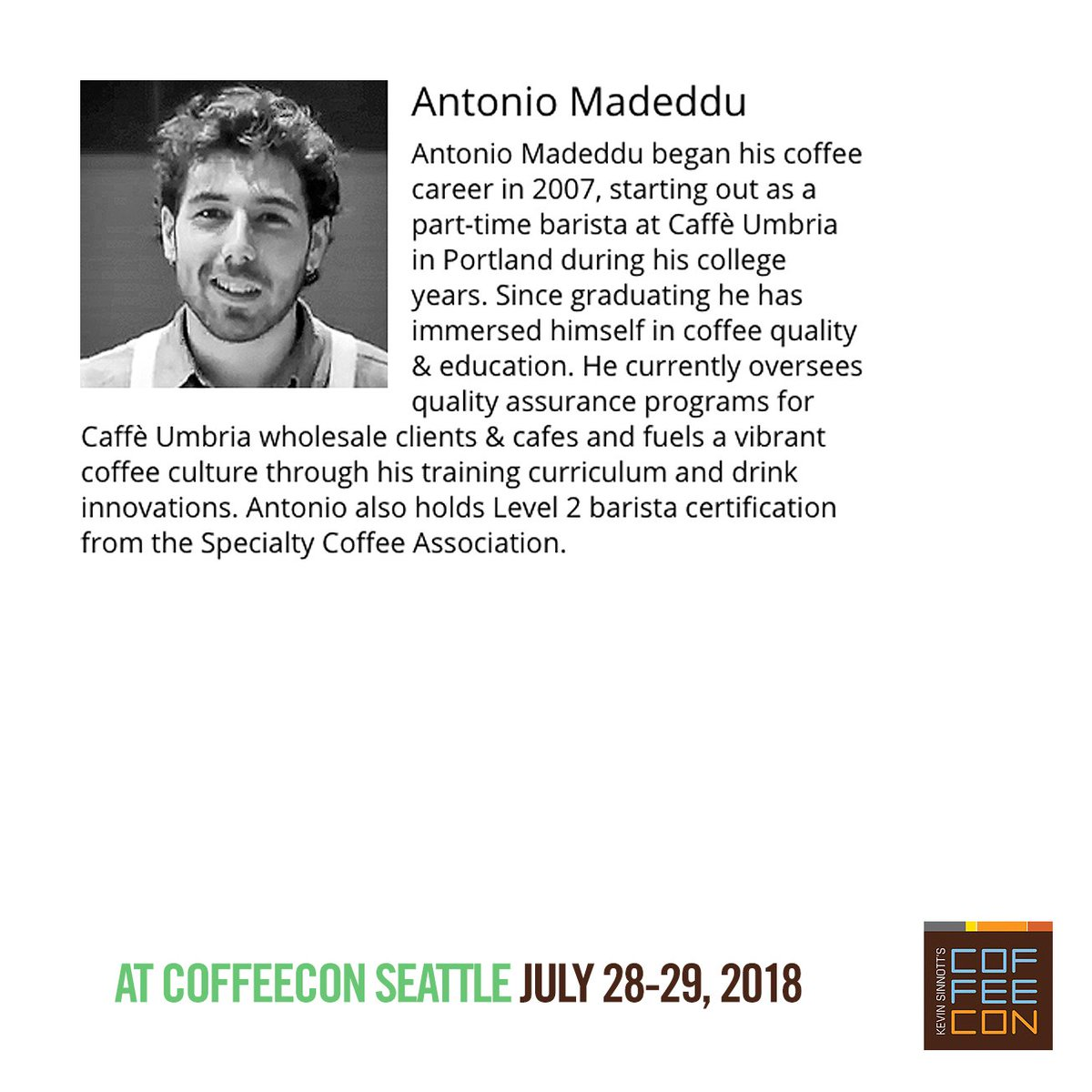 Coffeecon On Twitter Meet The Experts Caffeumbria Presenting At