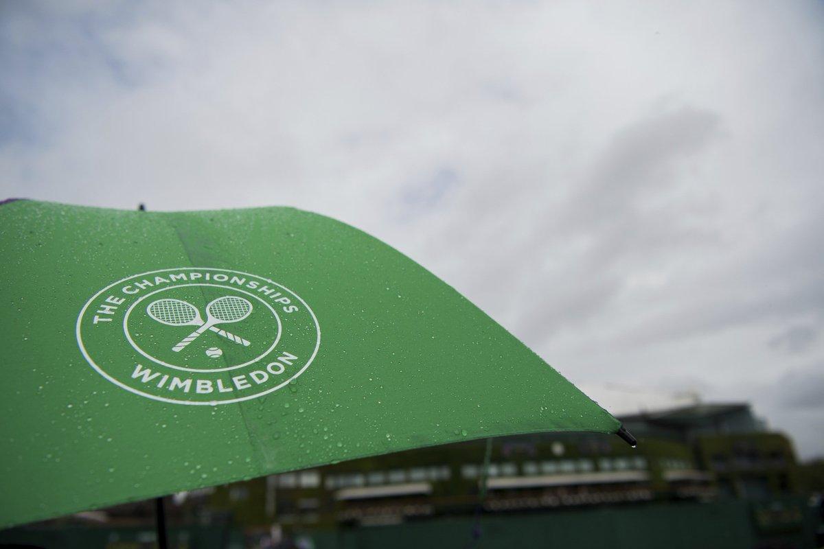 Finally. #Wimbledon #Rain