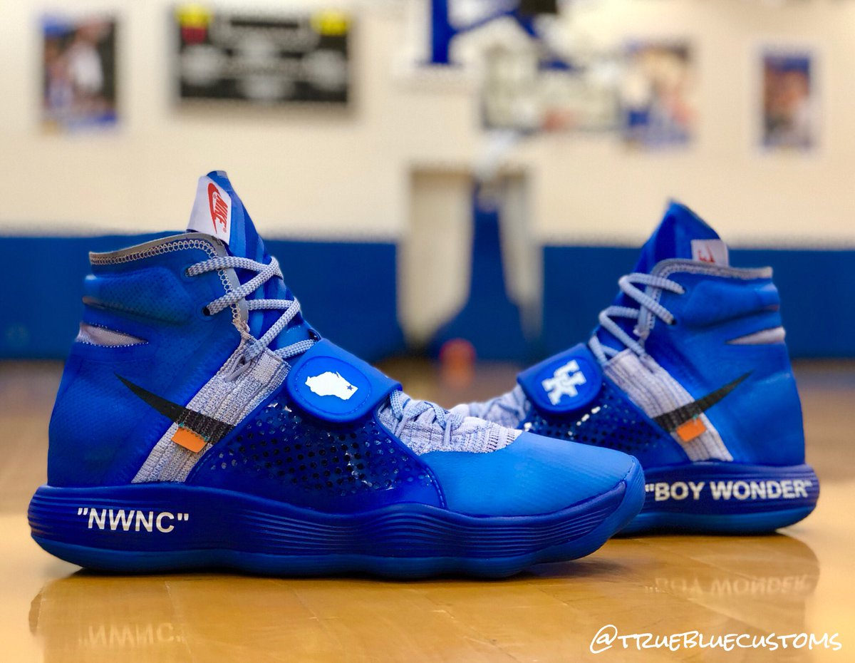 another chance b79ef 5782d ... his feet when Kentucky plays its four exhibition games in the Bahamas  in a couple of weeks. Herro showed off his new custom Off White x Hyperdunk  2017 ...